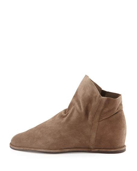 Sprite Slouchy Suede Wedge Bootie