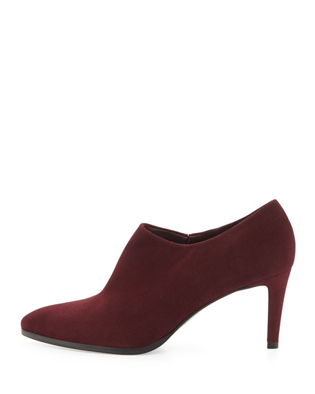 Standin Suede Ankle Boot, Bordeaux