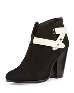 Rag & Bone Harrow Nubuck Ankle Boot, Black