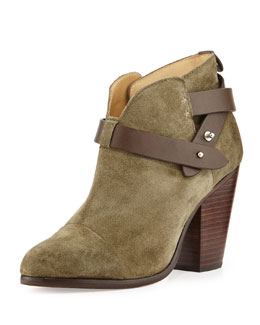 Rag & Bone Harrow Nubuck Ankle Boot, Stonewall Green