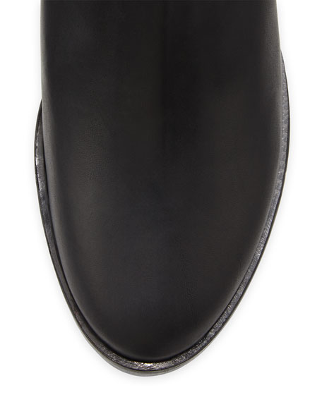 Dalton Leather Ankle Boot, Black