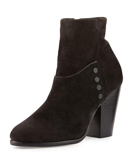 Kendall Suede Ankle Boot, Asphalt