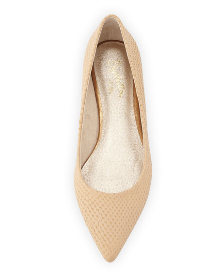 Well Known Embossed Pointed Flat, Vachetta