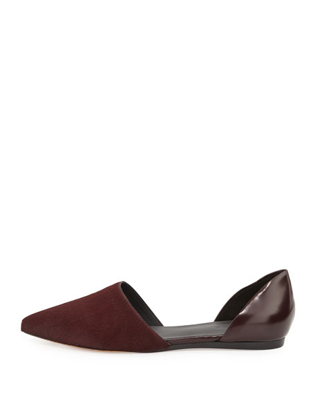 Nina Calf Hair Two-Piece Skimmer, Oxblood