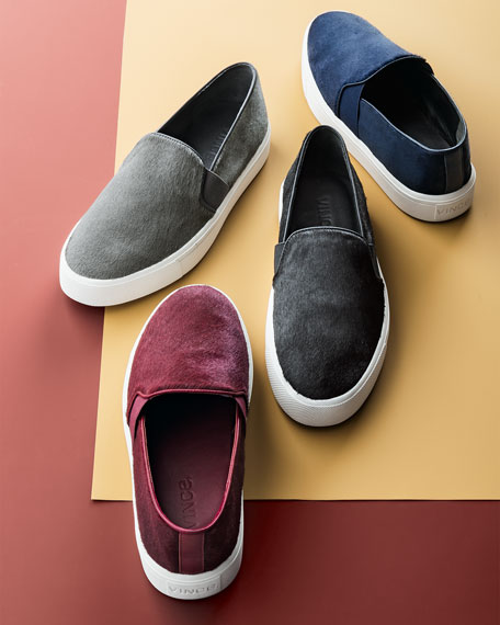 Berlin Calf Hair Skate Shoe, Black