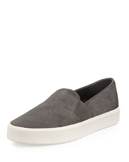 Vince Berlin Calf Hair Slip-On Sneaker, Graphite