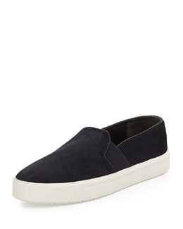 Vince Berlin Calf Hair Slip-On Sneaker, Twilight