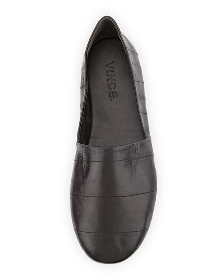 Bogart Eelskin Slip-On Flat, Black