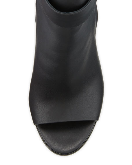Brigham Peep-Toe Bootie, Black