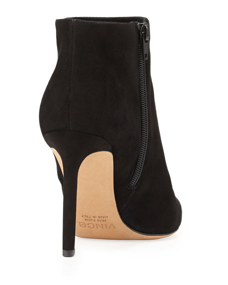 Chara Suede Ankle Boot, Black