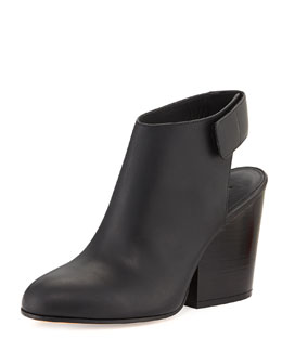 Vince Ingrid Leather Bootie, Black