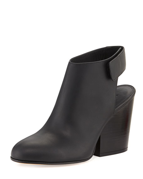 Ingrid Leather Bootie, Black