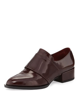 Vince Yaeger Leather Point-Toe Loafer, Oxblood