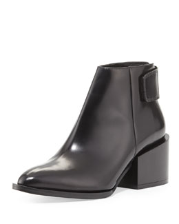Vince Laird Leather Ankle Boot, Black