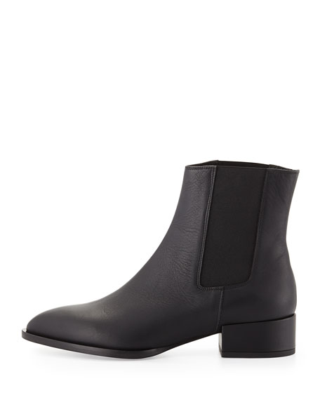 Yale Gored Low-Heel Ankle Boot
