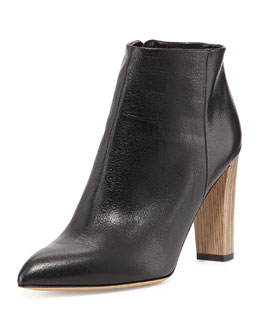 kate spade new york nita leather ankle boot, black