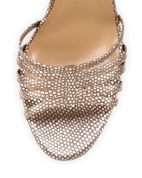 Ursula Strappy Metallic Sandal, Silver