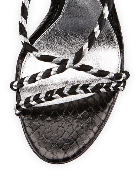 Linares Woven Strappy Sandal