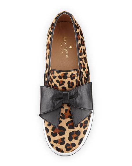 b39ee575e5c7 kate spade new york delise leopard-print bow slip-on