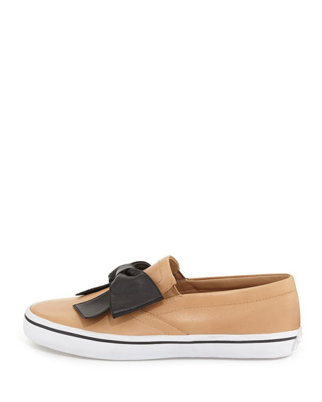 delise too bow slip-on sneaker, natural