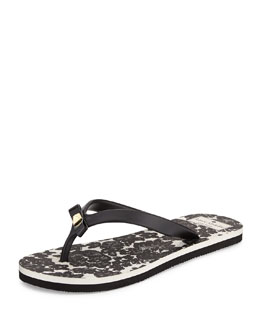 kate spade new york fiji rubber flip flop, black