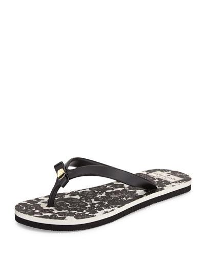 kate spade new york fiji rubber flip flop, black