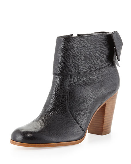lanise bow-back boot, black