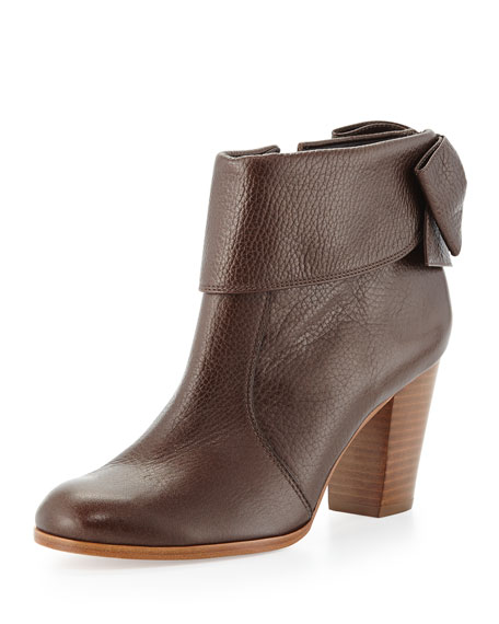 lanise bow-back boot, brown