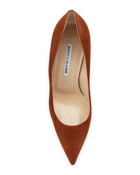 BB Suede 70mm Pump, Cognac