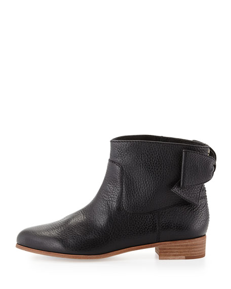 prospect bow-back ankle boot, black