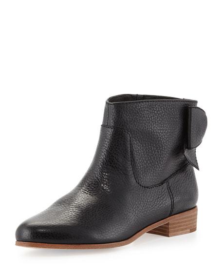 prospect bow-back ankle boot, black