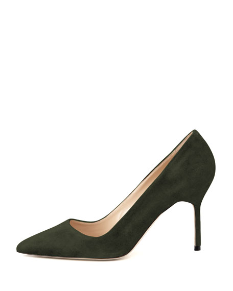 BB Suede 90mm Pump, Loden