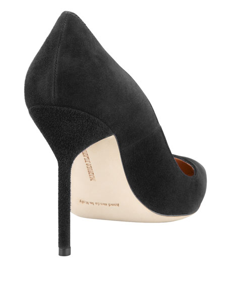BB Suede 105mm Pump, Charcoal