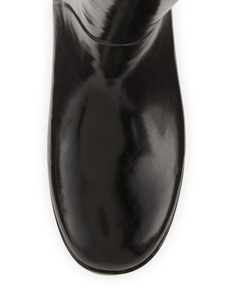 romi rubber bow rain boot, black