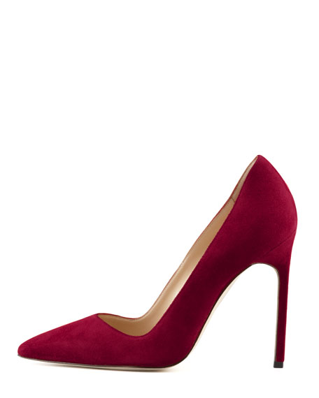 BB Suede 115mm Pump, Claret