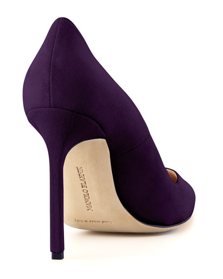 BB Suede 115mm Pump, Plum