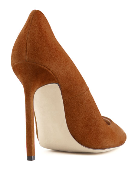 BB Suede 115mm Pump, Cognac