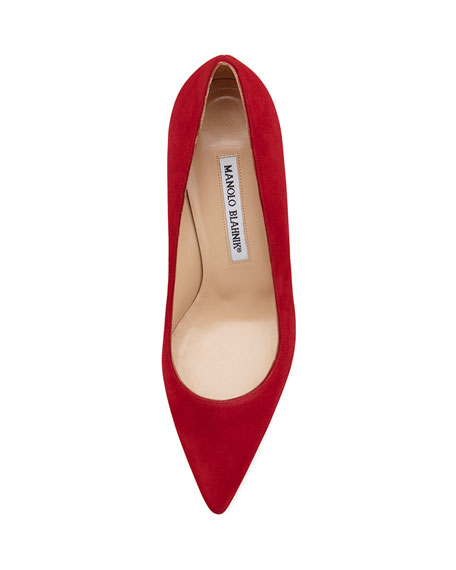 BB Suede 115mm Pump, Ruby (Made to Order)