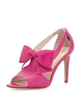 kate spade new york imelda peep-toe bow sandal, rio pink