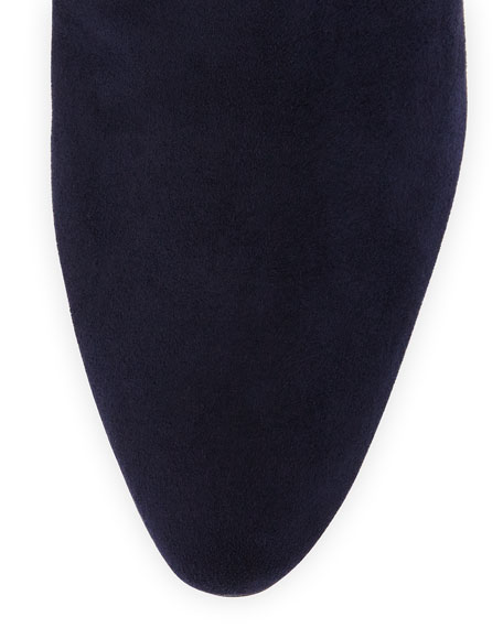 Pascaputre Suede Knee Boot, Navy