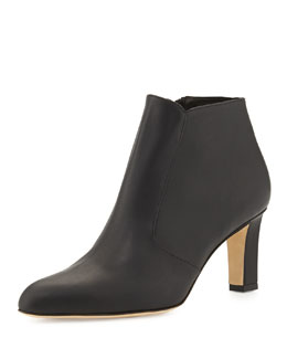 Manolo Blahnik Zavattinapla Leather Ankle Boot