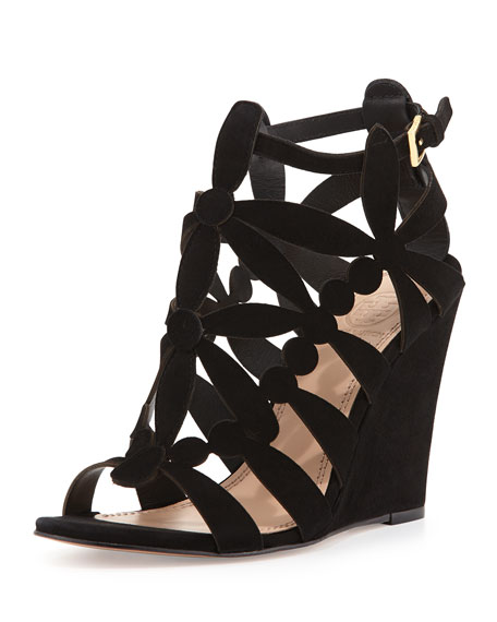 Emerson Cutout Suede Wedge