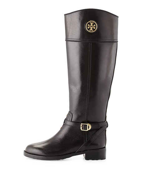 1bc31686f39a Tory Burch Teresa Logo Riding Boot, Black