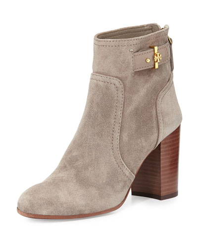 Tory Burch Kendall Suede Ankle Boot, Dust Storm