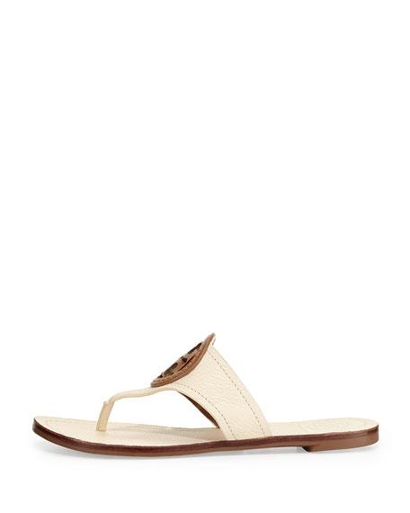 Louisa Logo Thong Sandal, Vanilla Cream