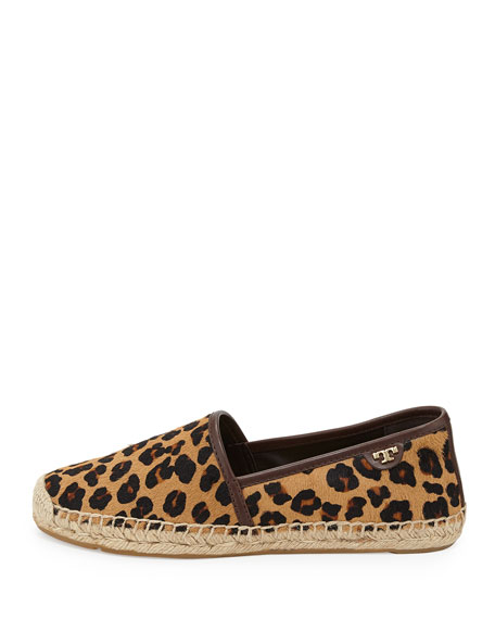 McKenzie Calf Hair Espadrille Flat, Leopard