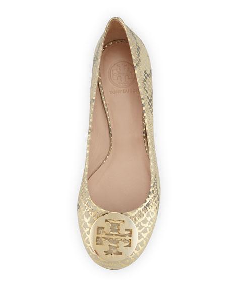 d10246ff6bdf4 Reva Metallic Ballerina Flat Natural Gold