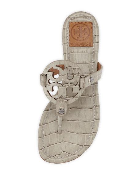 5023d36d7 Tory Burch Miller Croc-Print Logo Thong Sandal