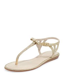 kate spade new york andrea sparkly bow flat thong sandal