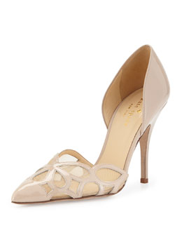 kate spade new york lauretta patent d'orsay pump, powder